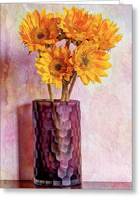 To Brighten Someone's Day Greeting Card by Heidi Smith