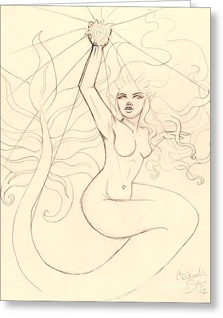 ...to Catch A Falling Star... Sketch Greeting Card by Coriander  Shea