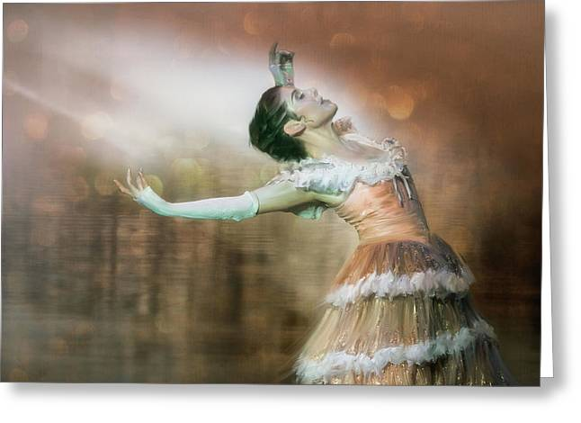 To Dance Greeting Card by Charlaine Gerber