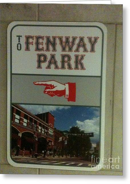 To Fenway Park Greeting Card