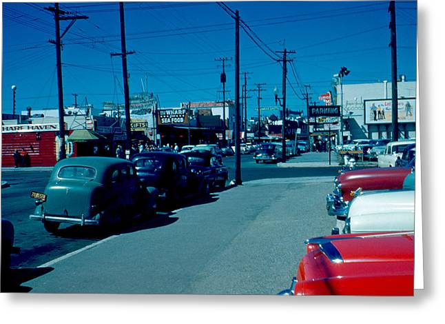 To Fisherman's Wharf 1955 Greeting Card by Cumberland Warden