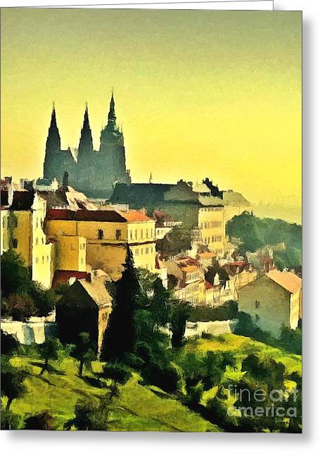 To Prague With Love... Greeting Card