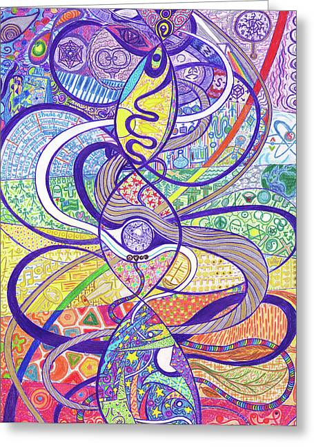 To See A World In A Dna Strand Greeting Card by Ty DAvila
