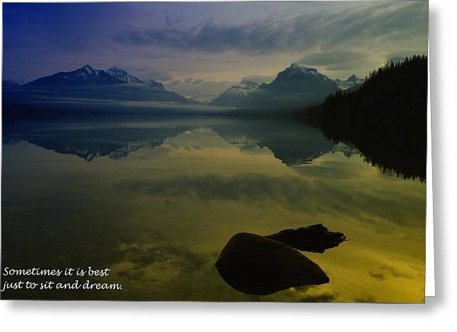 To Sit And Dream Greeting Card by Jeff Swan