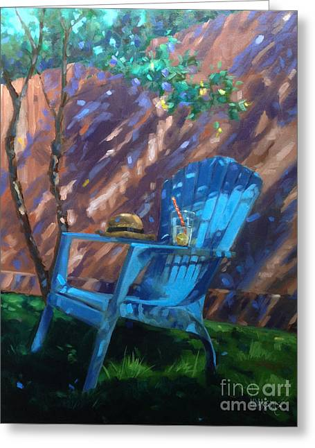 To Sit And Stare  Greeting Card by Nancy  Parsons