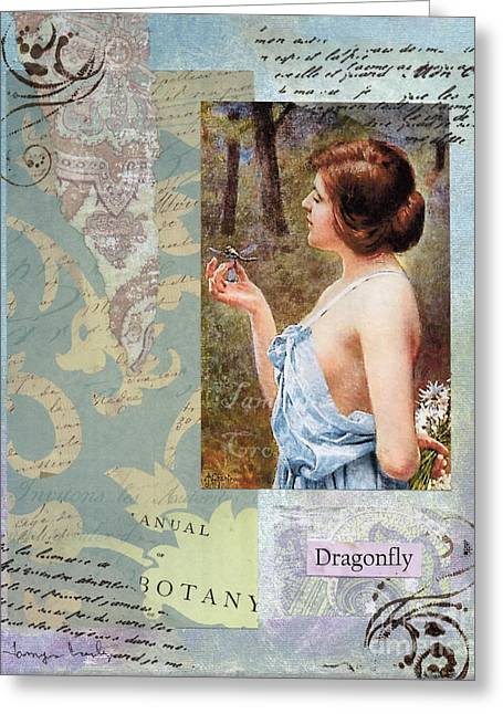 To Study The Dragonfly Greeting Card