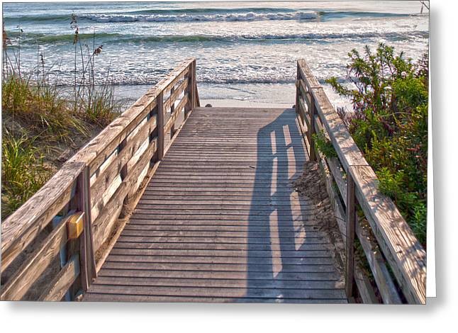 To The Beach Greeting Card by Paulette B Wright