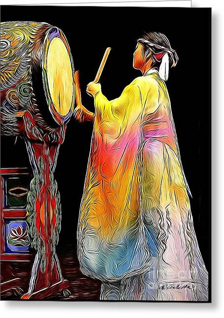 Beat Of The Drum Greeting Card by Andrea Auletta