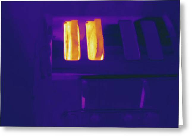 Toaster, Thermogram Greeting Card by Science Stock Photography