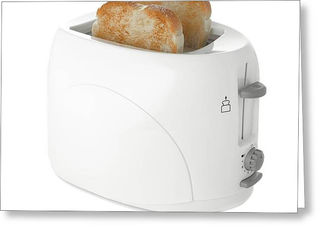 Toaster With Toast Greeting Card by Science Photo Library