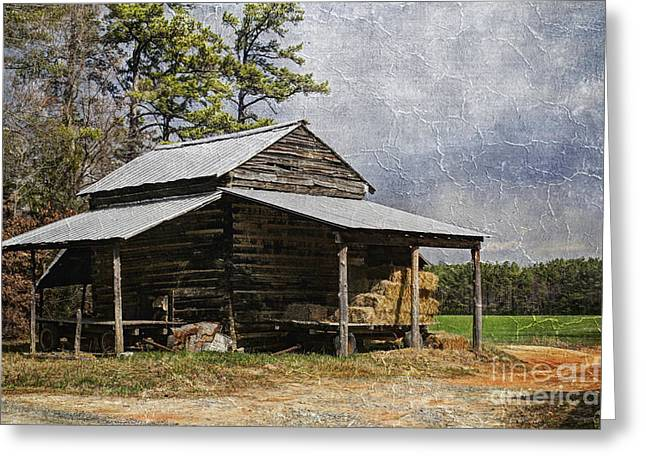 Tobacco Barn In North Carolina Greeting Card by Benanne Stiens