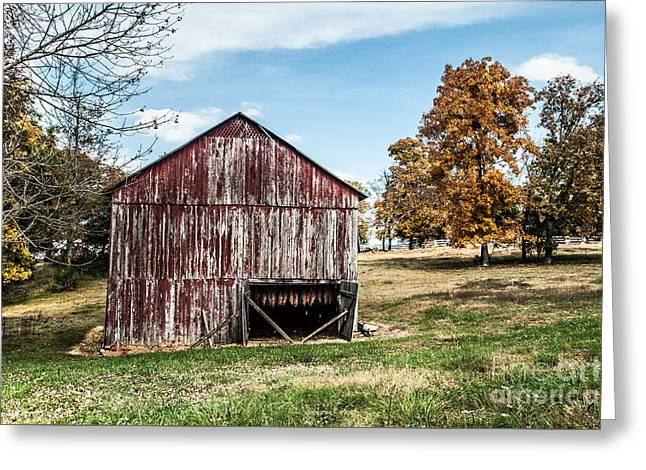 Greeting Card featuring the photograph Tobacco Barn Ready For Smoking by Debbie Green