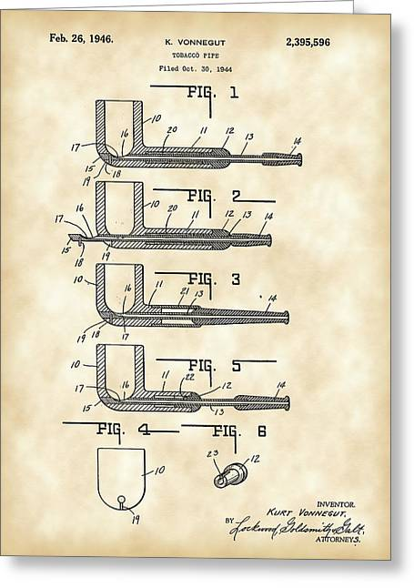 Tobacco Pipe Patent 1944 - Vintage Greeting Card by Stephen Younts