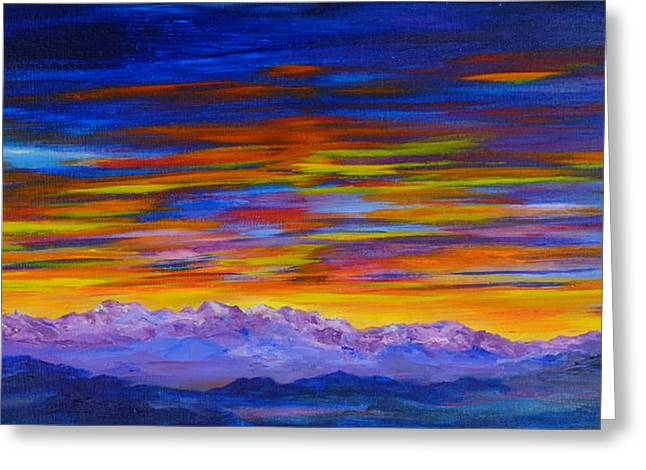 Tobacco Root Mountains Sunset Greeting Card