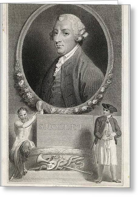 Tobias Smollett (1721 - 1771) - Greeting Card by Mary Evans Picture Library