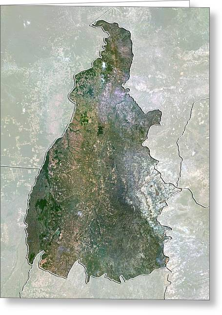 Tocantins, Brazil, Satellite Image Greeting Card by Science Photo Library