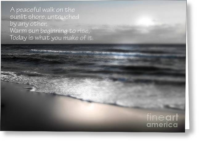 Today Black And White Greeting Card by Jeffery Fagan