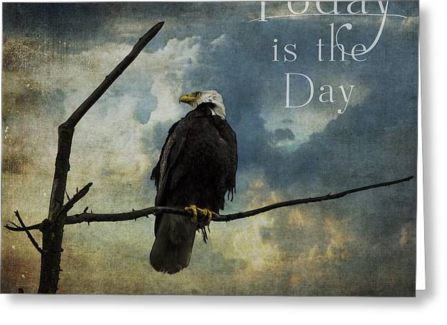 Today Is The Day - Inspirational Art By Jordan Blackstone Greeting Card by Jordan Blackstone