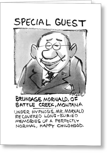 Today's Special Guest Brundage Mornald Greeting Card