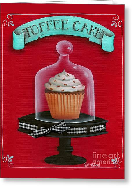 Toffee Cake Cupcake Greeting Card by Catherine Holman