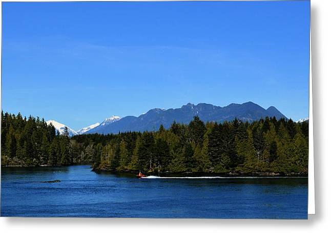 Tofino Bc Clayoquot Sound Browning Passage Greeting Card