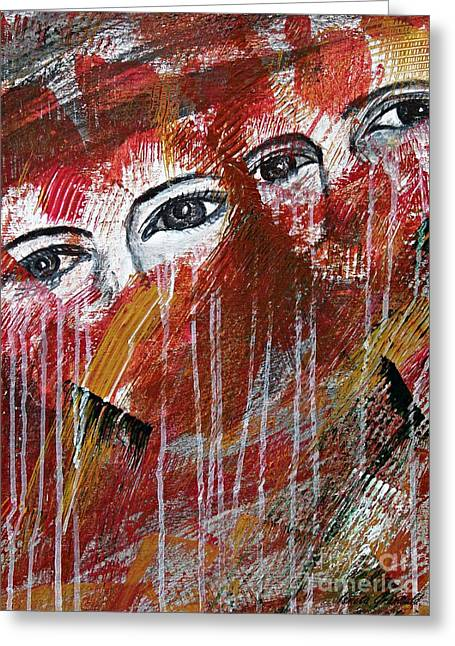 Together- Abstract Art Greeting Card by Ismeta Gruenwald