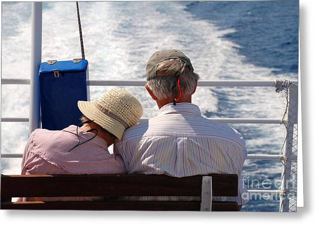 Together In Greece Greeting Card