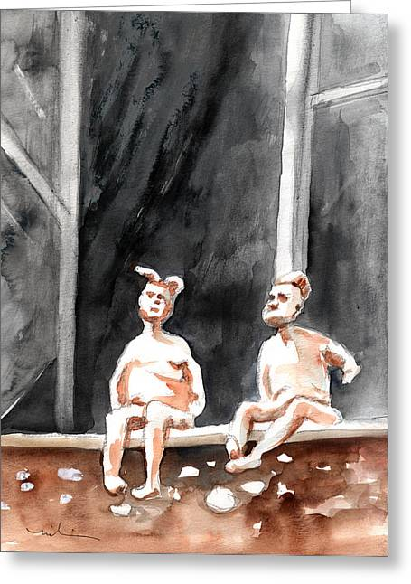 Together Old In Italy 08 Greeting Card