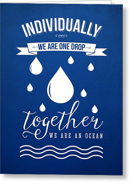 Together We Are An Ocean Greeting Card