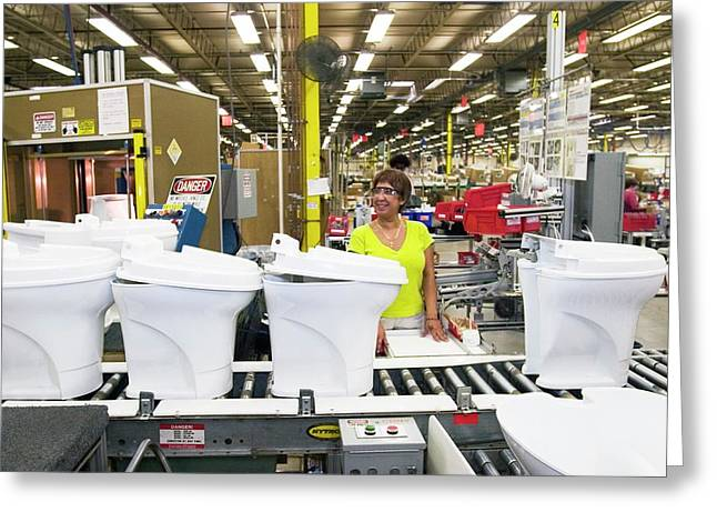Toilet Factory Greeting Card