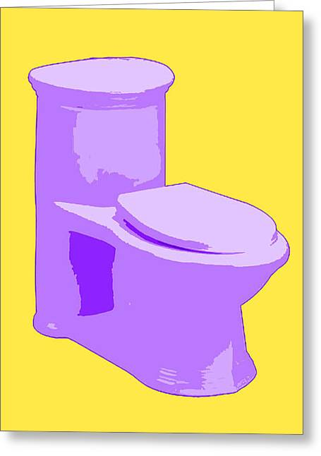 Toilette In Purple Greeting Card