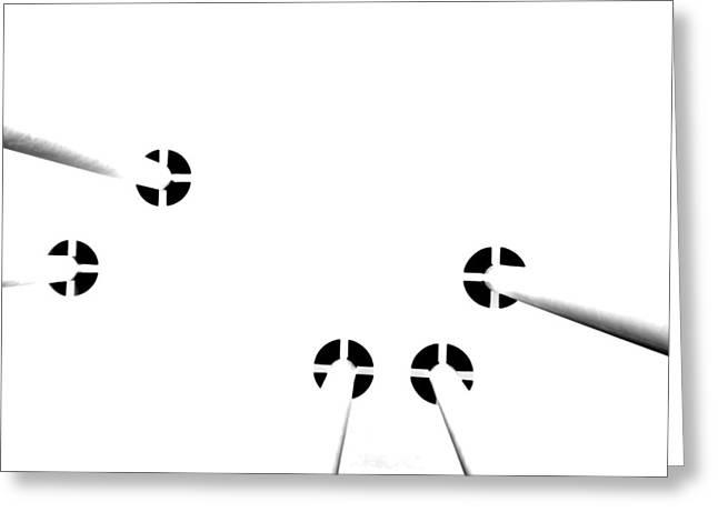 Toit Blanc Sur Des Colonnes Greeting Card