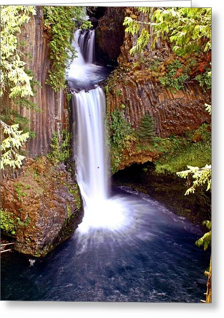 Tokatee Falls 1 Greeting Card by Marty Koch