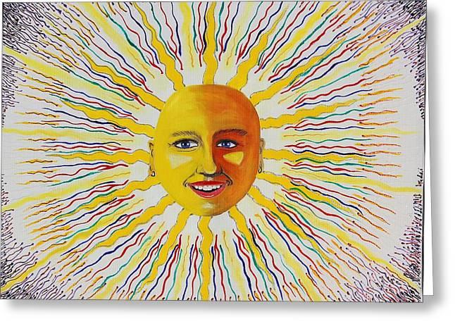 Toki Sun Greeting Card