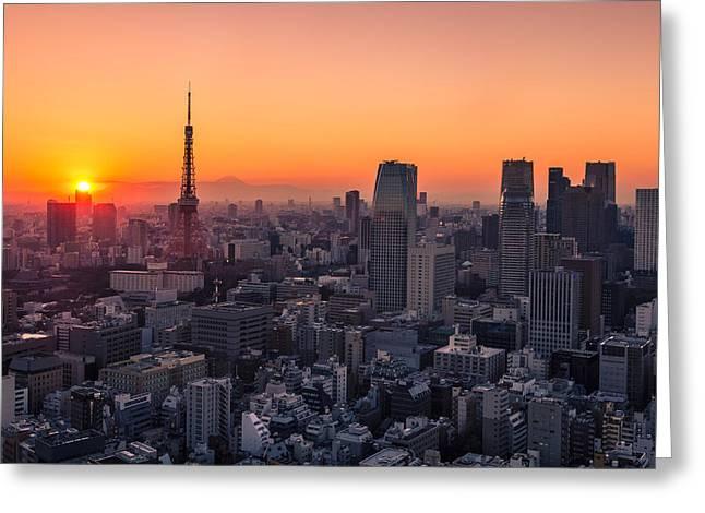 Tokyo 10 Greeting Card by Tom Uhlenberg