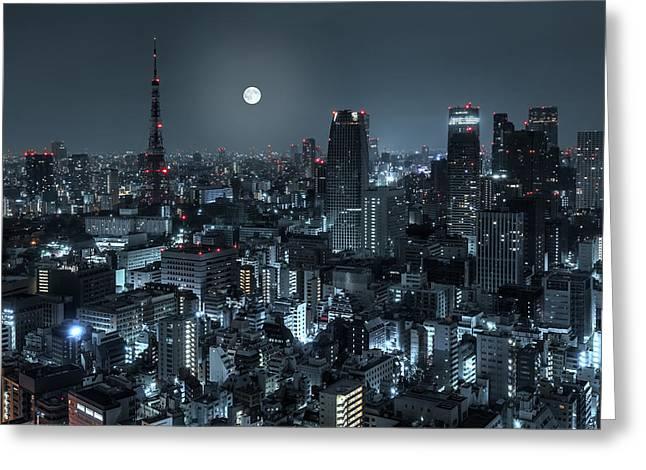 Tokyo 14 Greeting Card by Tom Uhlenberg