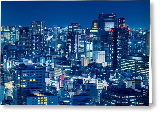 Tokyo 19 Greeting Card by Tom Uhlenberg
