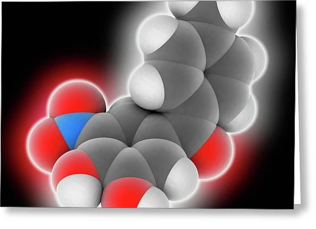 Tolcapone Drug Molecule Greeting Card by Laguna Design