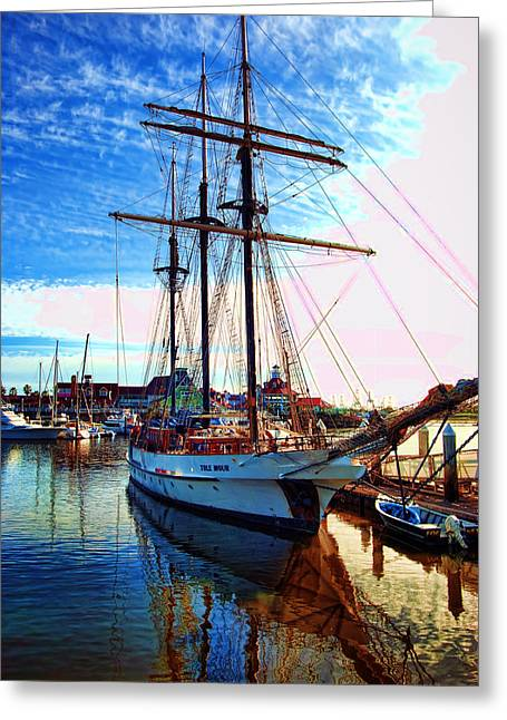 Tole Mour Sailing Ship Greeting Card