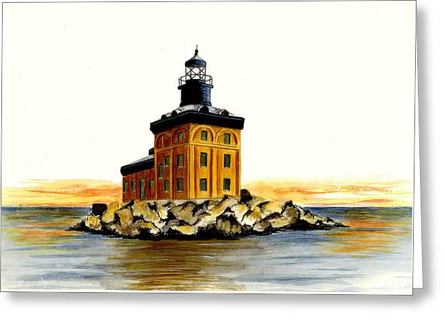 Toledo Harbor Lighthouse Greeting Card by Michael Vigliotti