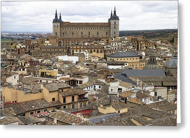 Greeting Card featuring the photograph Toledo Spain Cityscape by Nathan Rupert