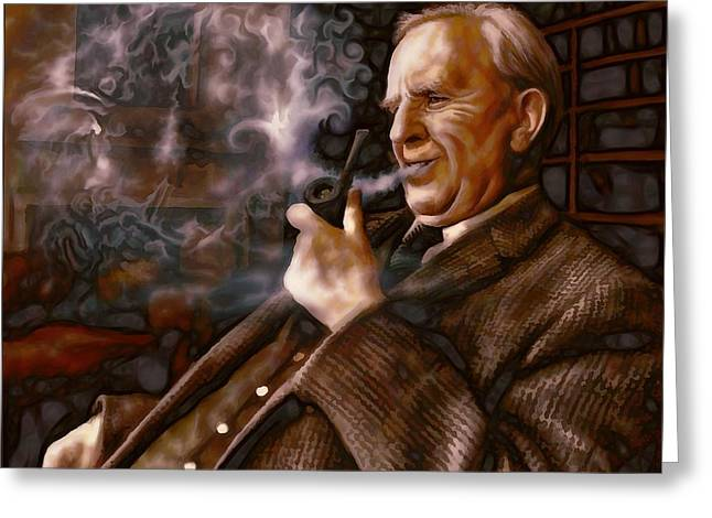 Tolkien Daydreams Greeting Card