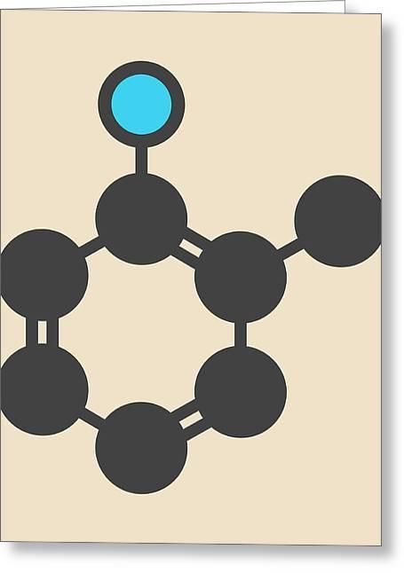 Toluidine Molecule Greeting Card
