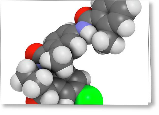 Tolvaptan Hyponatremia Drug Molecule Greeting Card by Molekuul