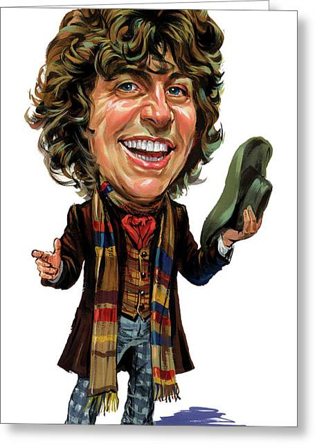 Tom Baker As The Doctor Greeting Card by Art