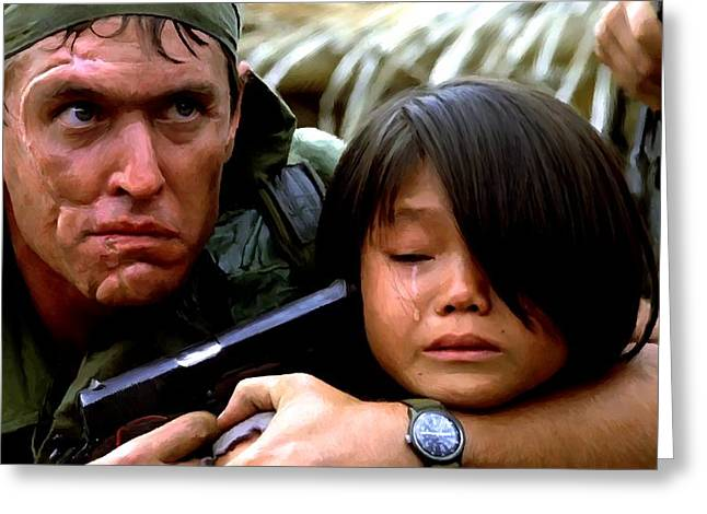 Tom Berenger In The Film Platoon - 1 Greeting Card