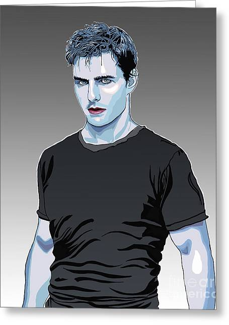Tom Cruise Drawing Greeting Card by Dominique Amendola