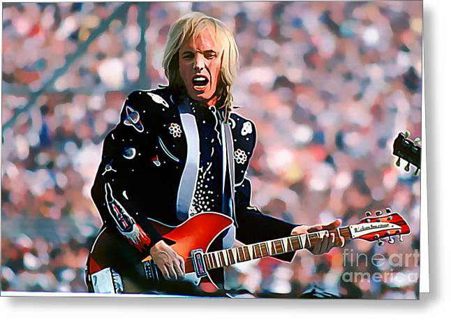 Tom Petty At Live Aid In Philadelphia Greeting Card