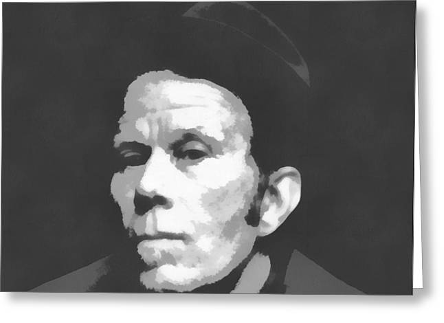 Tom Waits Charcoal Poster Greeting Card