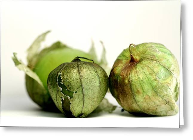 Tomatillos Greeting Card by Susie DeZarn
